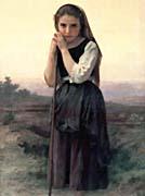 William Bouguereau Little Shepherdess
