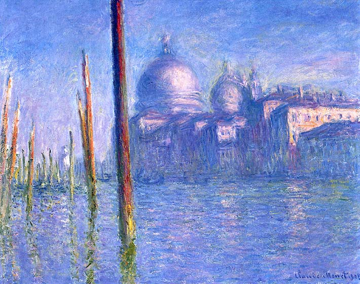 Claude Monet The Grand Canal, Venice stretched canvas art print