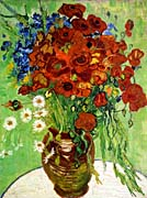 Vincent Van Gogh Still Life: Red Poppies and Daisies