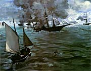 Edouard Manet Battle of the Kearsarge and the Alabama (detail)