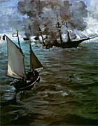 Edouard Manet Battle of the Kearsarge and the Alabama (portrait detail)