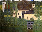 Gustav Klimt Schloss Kammer On The Attersee I Detail canvas prints