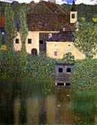 Gustav Klimt Schloss Kammer on the Attersee I (portrait detail)