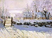 Claude Monet The Magpie, Snow Effect
