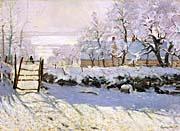 Claude Monet The Magpie Snow Effect canvas prints
