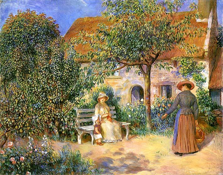 Pierre Auguste Renoir Garden Scene in Brittany stretched canvas art print