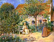 Pierre Auguste Renoir Garden Scene in Brittany