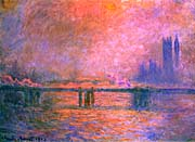 Claude Monet Charing Cross Bridge, la Tamise 1903
