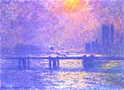 Claude Monet Charing Cross Bridge La Tamise canvas prints