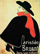 Henri De Toulouse Lautrec Aristide Bruant in his Cabaret