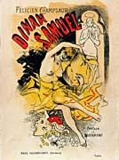 Jules Cheret Cover for Felicien Champsaur's Dinah Samuel