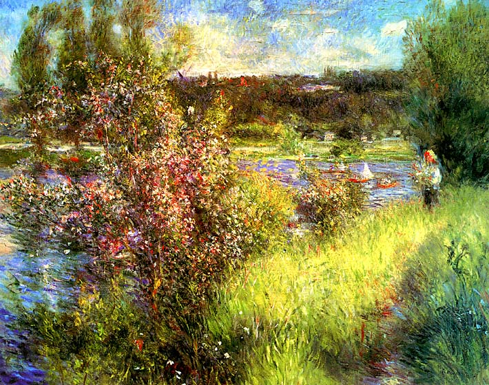 Pierre Auguste Renoir The Seine at Chatou stretched canvas art print
