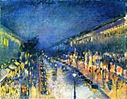 Camille Pissarro Boulevard Montmartre, Night Effect