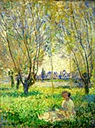 Claude Monet Woman Sitting Under the Willows