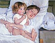 Mary Cassatt Breakfast In Bed canvas prints