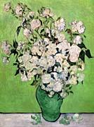 Vincent Van Gogh Vase with Pink Roses III