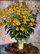 Claude Monet Jerusalem Artichoke Flowers canvas prints