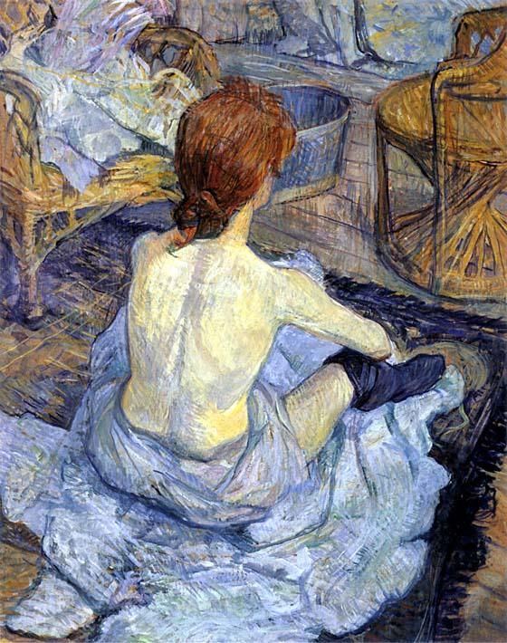 Henri de Toulouse Lautrec Rousse, La Toilette stretched canvas art print
