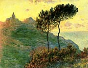 Claude Monet The Church at Varengeville, Against the Sunlight