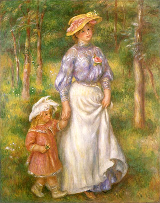 Pierre Auguste Renoir The Promenade stretched canvas art print