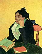 Vincent Van Gogh Madame Ginoux with Books