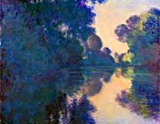 Claude Monet Morning On The Seine Near Giverny canvas prints