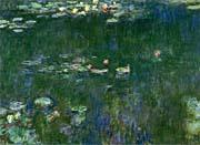 Claude Monet Green Reflections II (center detail)