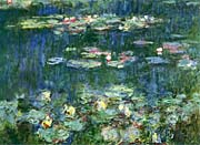 Claude Monet Green Reflections III (right detail)