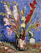 Vincent Van Gogh Vase with Gladioli