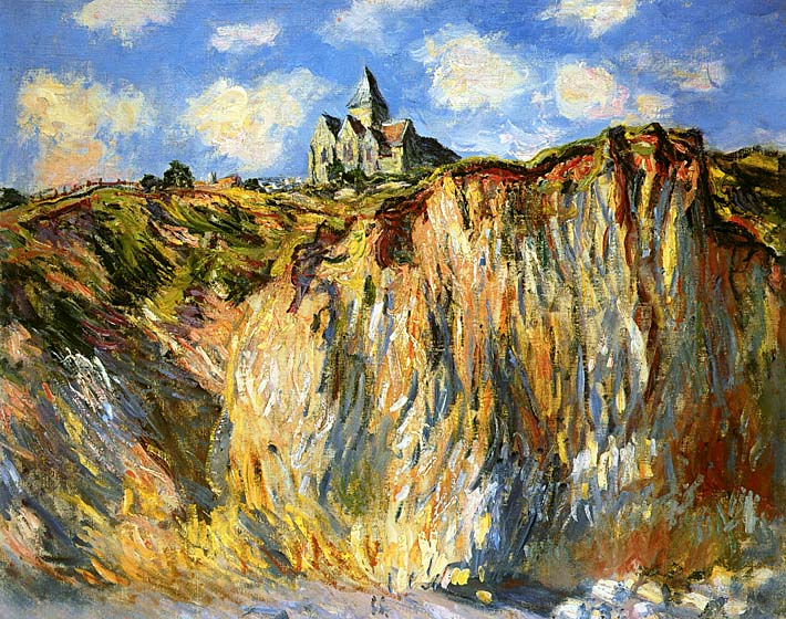 Claude Monet The Church at Varengeville, Morning Effect (landscape detail) stretched canvas art print