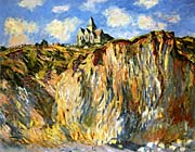 Claude Monet The Church at Varengeville, Morning Effect (landscape detail)