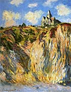 Claude Monet The Church at Varengeville, Morning Effect (portrait detail)