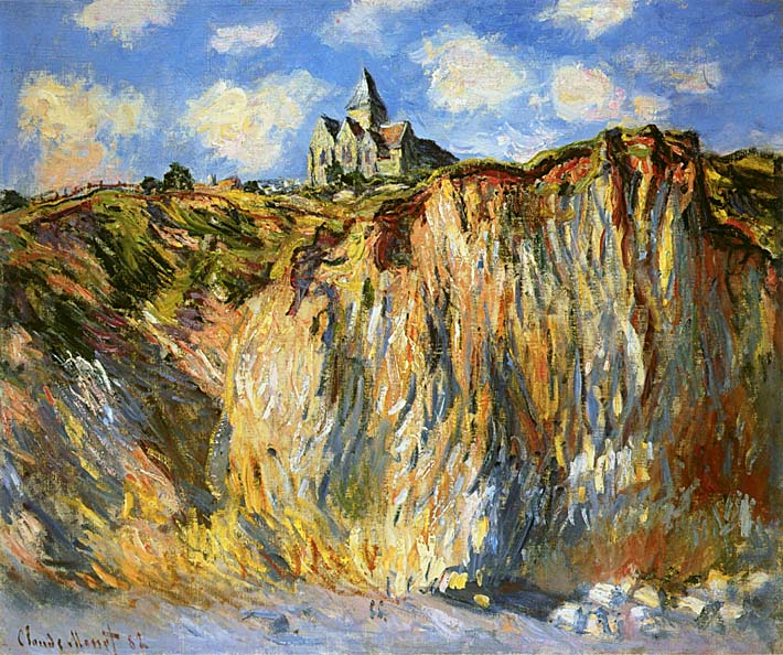 Claude Monet The Church at Varengeville, Morning Effect stretched canvas art print