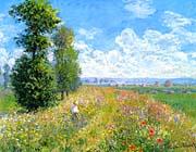 Claude Monet Meadow with Poplars