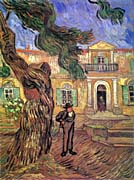 Vincent Van Gogh Pine Tree And Figure In Front Of The Saint Paul Hospital canvas prints