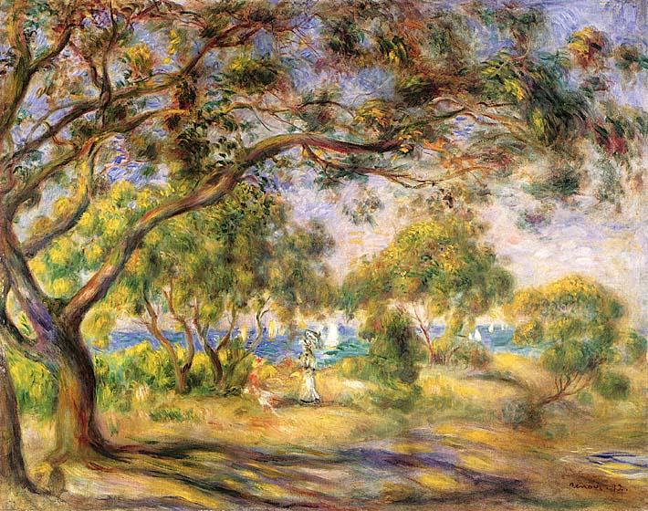Pierre Auguste Renoir Noirmoutiers stretched canvas art print