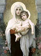 William Bouguereau Madonna of the Roses