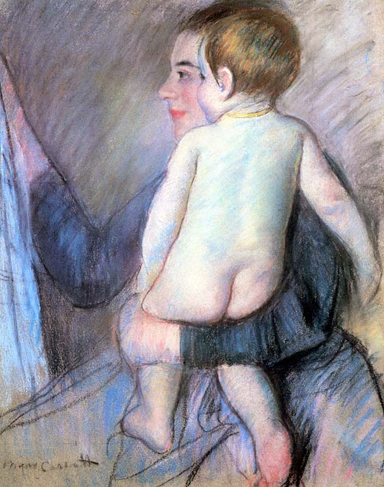 Mary Cassatt At The Window stretched canvas art print