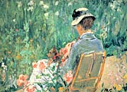 Mary Cassatt Lydia Seated In The Garden With A Dog canvas prints