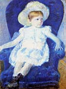 Mary Cassatt Elsie in a Blue Chair