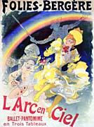 Jules Cheret Folies-Bergere L'Arc-en-Ciel