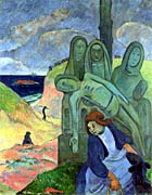 Paul Gauguin Green Christ