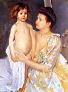 Mary Cassatt Jules Being Dried By His Mother canvas prints