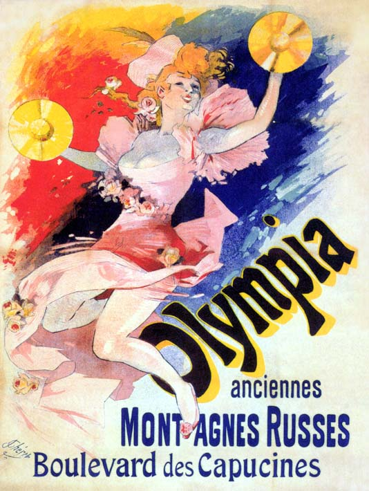 Jules Cheret Olympia stretched canvas art print