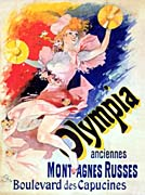 Jules Cheret Olympia canvas prints