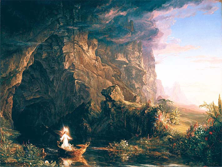 8b202a38f0 Thomas Cole The Voyage of Life: Childhood Prints on Canvas - 5x7 size