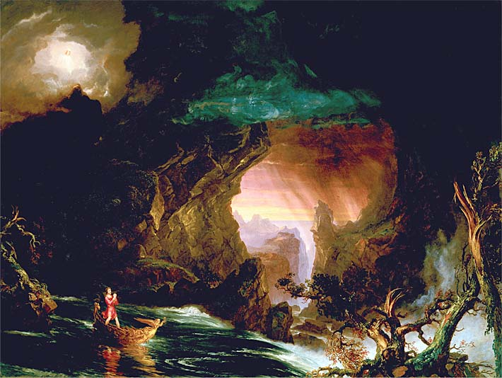 Thomas Cole The Voyage of Life: Manhood stretched canvas art print