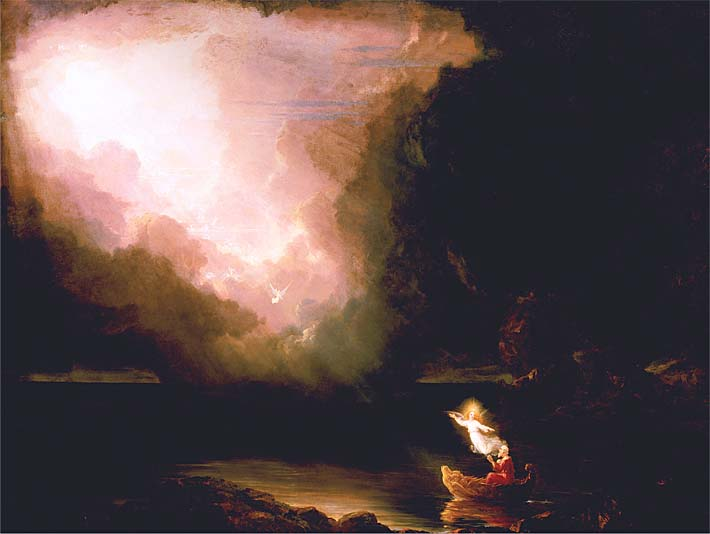 Thomas Cole The Voyage of Life: Old Age stretched canvas art print