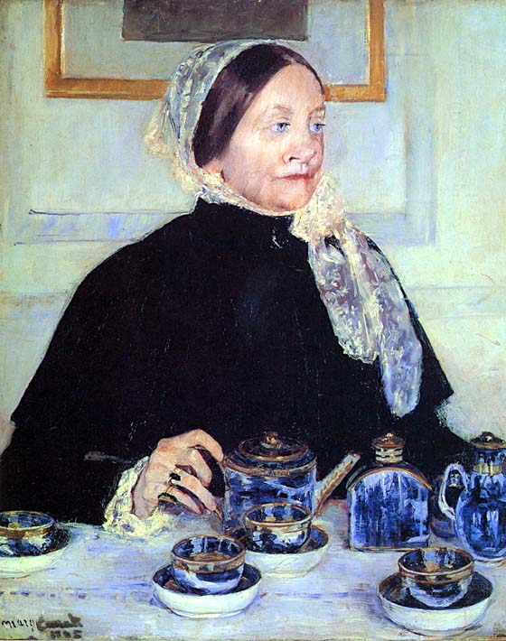 Mary Cassatt Lady at the Tea Table stretched canvas art print