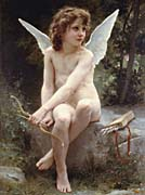 William Bouguereau Love on the Look Out